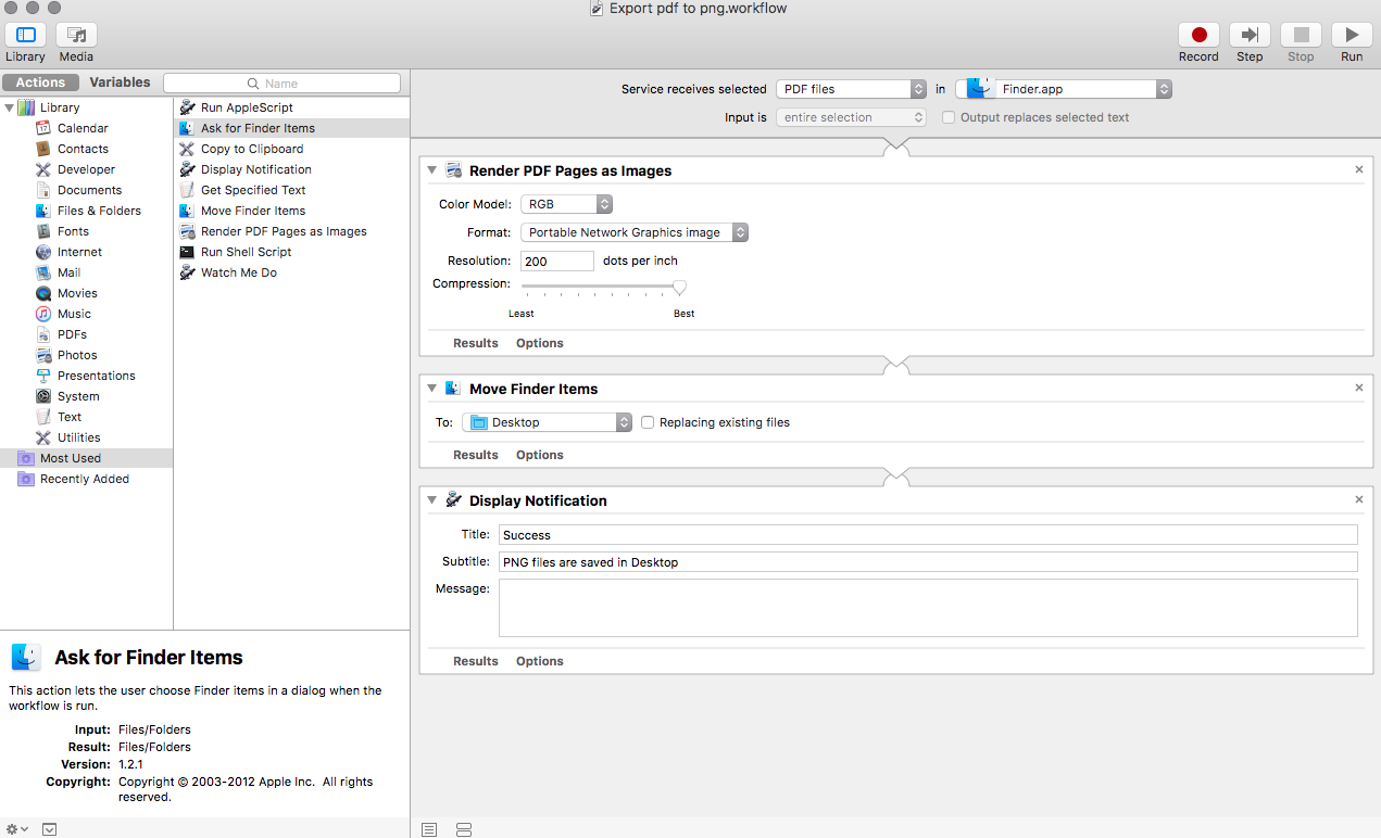 automator workflow pdf-to-png